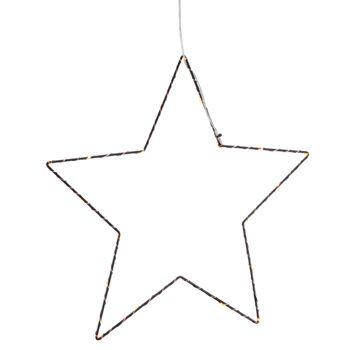 17-52175, LED Hänger Stern, schwarz 35 cm, mit 20 LEDs LED Licht