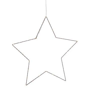 17-52176, Metall LED Hänger Stern, schwarz 55 cm, 30 LEDs, LED Licht