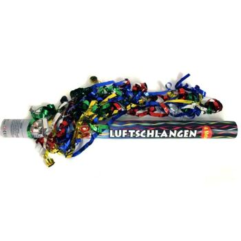 28-232468, Party Popper 50 cm, Luftschlangen, Farbe metallic, Konfettishooter