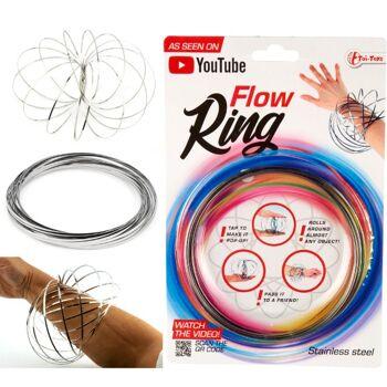 28-357913, Magischer Flow Ring aus Metall, 3D Federspielzeug, mit beeindruckendem optischen Effekt