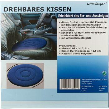 28-438002, Drehbares Kissen, vielseitig nutzbar, erleichtert das Einsteigen und Aussteigen unterstützt Personen mit Bewegegungseinschränkung