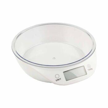 28-489599, Digitale Küchenwaage bis 5 kg, mit farbiger Kunststoffschale