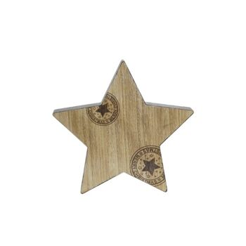 17-43311, Holz Deko Stern 20 cm,