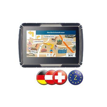 NavGear TourMate N4 Navigationssystem mit ZENTRAL-EUROPA 4,3 Zoll Motorrad Kfz Outdoor Fahrrad Navigation Navigationssystem Navigerät Navi