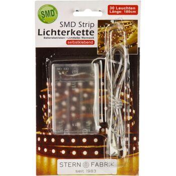 12-20118, LED STRIP Lichterkette 30 Leuchten, 180 cm, auch für Beleuchtung an Bilderrahmen, Weihnachten, indirekte Beleuchtung, usw,