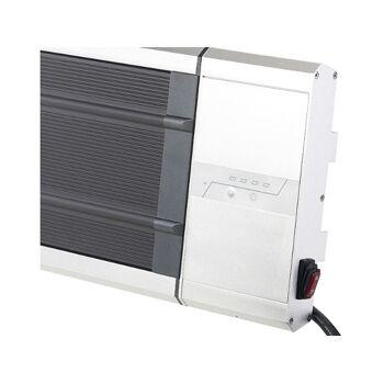 Semptec Infrarot-Dunkelheizstrahler RA-324 Timer Fernbedienung 2.400 Watt IP55 Heizung Heizlüfter Heizkörper Wärmequelle Wärme heizen