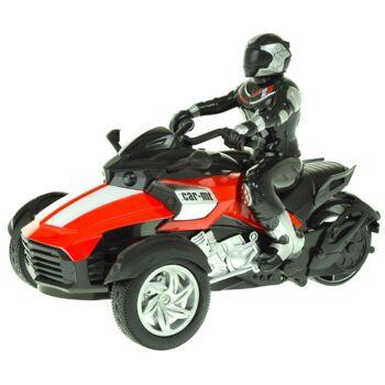 28-725001, RC Dreirad / Trike, funkferngesteuert, mit Fahrer und Licht, verschiedene Funktionen