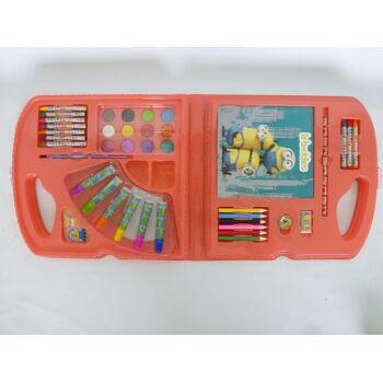 12-867145, RIESEN Minions Malset 61 teilig in Box 70 x 31,5 cm, Bastelset, Kunstset, Malstifte, Buntstifte, Filzstifte usw