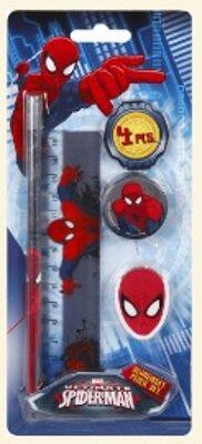 12-SP13023, Schreibset 4-teilig, Spiderman