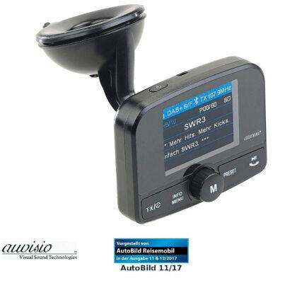 auvisio FMX-640.dab DAB+ Auto DAB-Empfänger, FM-Transmitter, Bluetooth, Nachrüst Freisprecheinrichtung, MP3, Kfz, Autoradio, Radio Empfänger