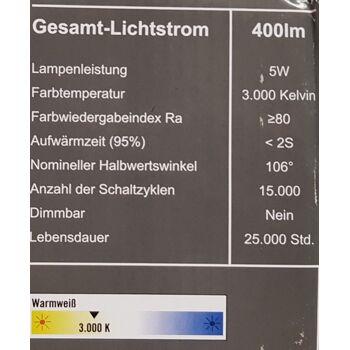 LED Dreieck Unterbauleuchte 2er Set nickel-matt 400 Lumen 5W