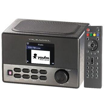 VR Radio WLAN-Internetradio Wecker USB-Ladestation 8 Watt 7,2cm Display Radiowecker Streamingradio Streaming WLAN Internet Bildschirm