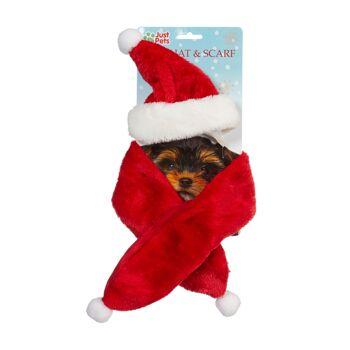 17-63685, Weihnachtsset für Hunde 2-teilig, Nikolausmütze und Schal, Weihnachtsmütze+++++++++++