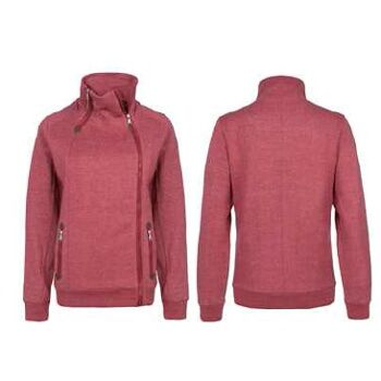 Damen Sublevel Jacke Sweatjacke Herbstjacke Zipper rot braun schwarz Winter Herbst Pullover