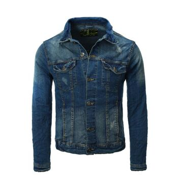 Herren EIGHT2NINE Jeansjacke Marken Jeans Jacke Denim Restposten Herrenmode