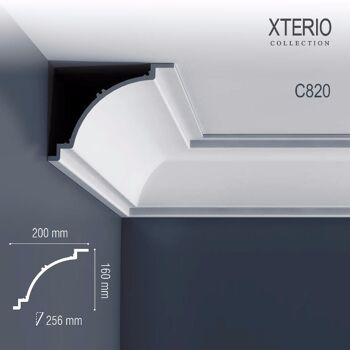 Orac Decor C820 XTERIO 1 Karton SET mit 8 Eckleisten Zierleisten | 19,52 m