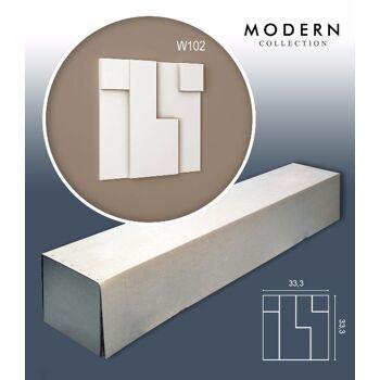 Orac Decor W102 MODERN 1 Karton SET mit 5 Wandpaneelen Zierelementen | 0,55 m2