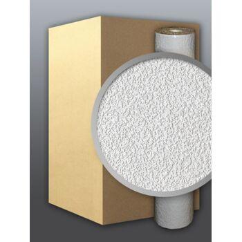 EDEM 204-40 Dekorative Struktur Schaum-Tapete rauhfaser weiß putz optik   71 qm - 1 Kart. 9 Rollen