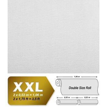 Streifen Tapete EDEM 83016BR60 Vliestapete zum Überstreichen strukturiert unifarben matt weiß 1 Karton 4 Rollen 106 m2