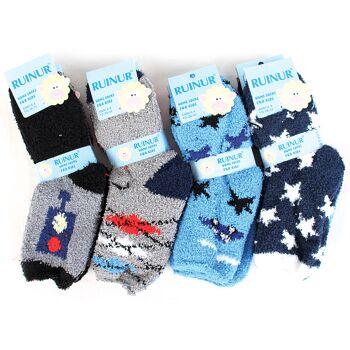 Kinder Jungen Kuschelsocken Socke Warme Winter Socken Socks Kindersocke Haussocken - 0,74 Euro