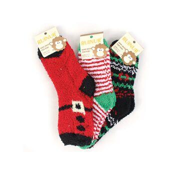 Kinder Kuschelsocken Weihnachten Christmas Socke Warme Winter Socken Socks Kindersocke Haussocke Weihnachtssocke - 0,74 Euro