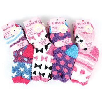 Kinder Mädchen Kuschelsocken Socke Warme Winter Socken Socks Kindersocke Haussocken - 0,74 Euro