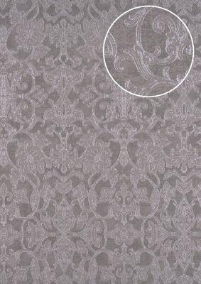 ATLAS CLA-600-7 Barock Tapete Ornament glänzend grau grau-braun perl-gold 5,33 m2