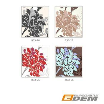 Blumen Tapete EDEM 833-26 edles florales Design Blüten Blätter Blumentapete braun flieder violett mint 70 cm