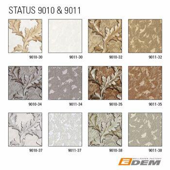 Blumen Tapete EDEM 9010-30 Vliestapete geprägt im Barock-Stil glänzend creme weiß gold hell-elfenbein 10,65 m2