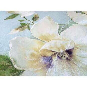 Blumen Tapete EDEM 9080-29 Vliestapete geprägt mit floralen Ornamenten schimmernd blau grün weiß 10,65 m2