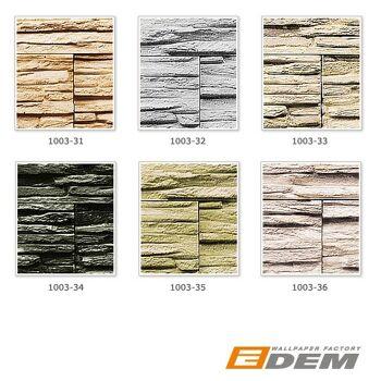 Stein Tapete EDEM 1003-36 Tapete Naturstein Bruch-Stein Mauer Optik geprägte Struktur hochwaschbar natur-weiß grau