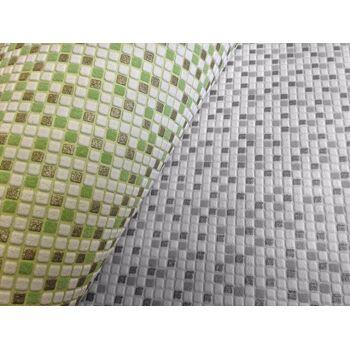 Stein Tapete EDEM 1024-16 Tapete Designer Mosaik-Steinchen Muster dezenter Glitzereffekt abwaschbar grau weiß silber
