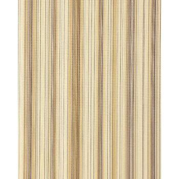 Streifen Tapete EDEM 097-21 Gestreifte Designer Tapete prunkvolle modern und edel dunkelbraun braun beige altrosa silber