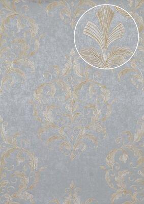 Atlas ATT-5082-2 Barock Tapete Floral glänzend gold creme 7,035 m2