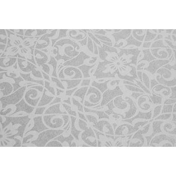 Atlas PRI-498-8 Barock Tapete Ornament glänzend perl-weiß 5,33 m2