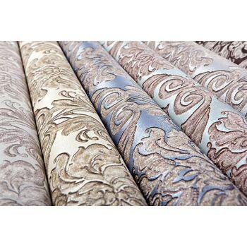 Barock Tapete EDEM 9014-32 Vliestapete geprägt mit Ornamenten glänzend beige creme-weiß bronze 10,65 m2
