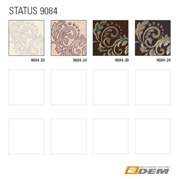 Barock Tapete EDEM 9084-20 heißgeprägte Vliestapete geprägt mit floralen Ornamenten und metallischen Akzenten creme weiß silber 10,65 m2