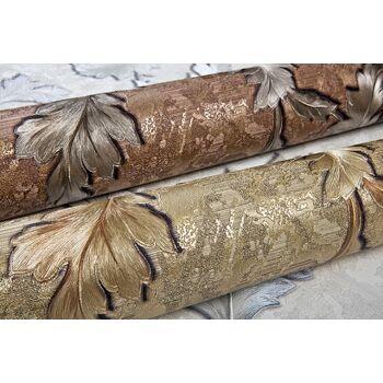 Blumen Tapete EDEM 9010-32 Vliestapete geprägt im Barock-Stil glänzend gold braun bronze 10,65 qm