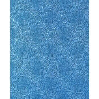 EDEM 064-22 Tapete abstraktes Retro-Muster grafisches Relief Blau silber