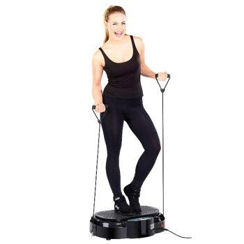 newgen medicals 3in1 Rüttelplatte Vibrationsplatte mit Expander Abnehmen Muskelaufbau schlank werden Fitness Sport Training Vibration