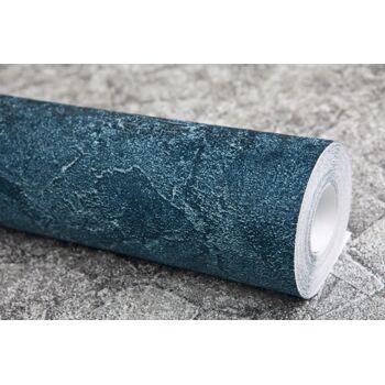 Spachtel Putz Tapete EDEM 9077-29 heißgeprägte Vliestapete geprägt im Shabby Chic Stil glänzend blau anthrazit petrol 10,65 m2