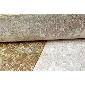 Uni Tapete EDEM 9011-34 Vliestapete geprägt in Spachteloptik glänzend silber grau 10,65 m2