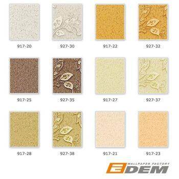 Uni Tapete Vliestapete EDEM 917-21 Tapete in XXL Hochwertige Luxus geprägte Struktur creme-beige perlmutt-weiß | 10,65 m2