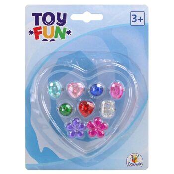27-80446, Kinderringe 9er Set, Fingerringe von The Toy Company