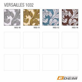Barock Tapete EDEM 1032-11 Vinyltapete glatt mit Ornamenten und Metallic Effekt elfenbein weiß gold 5,33 m2