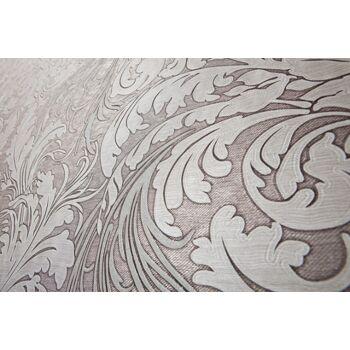 Barock Tapete EDEM 9017-34 heißgeprägte Vliestapete geprägt mit floralen Ornamenten glitzernd grau silber beige-grau 10,65 m2