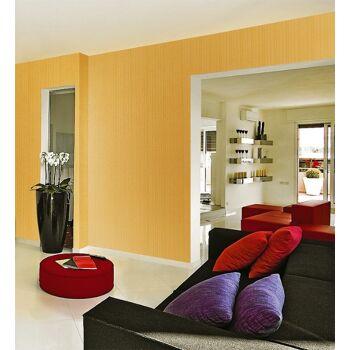 EDEM 1015-11 Fashion Designer Uni-Tapete gestreiftes Struktur-Muster gold-gelb