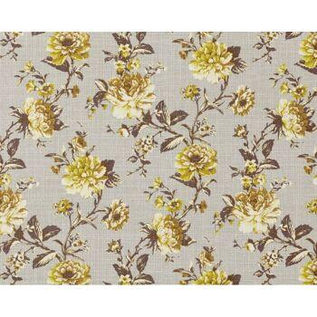 EDEM 603-91 Vliestapete XXL florales Muster Blumen grau grün braun | 10,65 qm