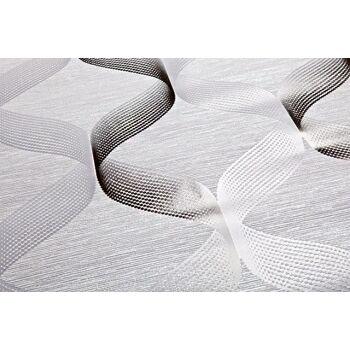 Retro Tapete EDEM 1034-10 Vinyltapete strukturiert mit grafischem Muster glitzernd silber grau anthrazit 5,33 m2