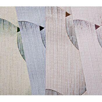 Retro Tapete EDEM 1035-12 Vinyltapete strukturiert mit grafischem Muster glitzernd weiß hell-blau violett-blau 5,33 m2